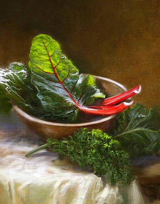 Roberts Painting - Hearty Greens by Robert Papp