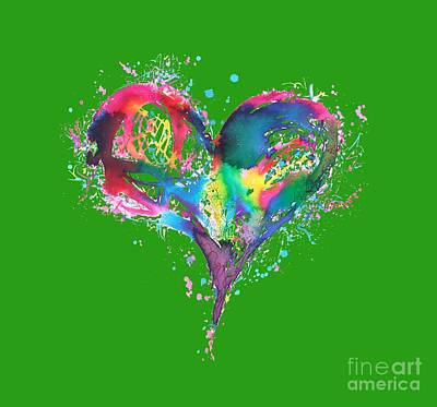 Hearts 6 T-shirt Art Print by Herb Strobino