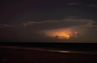Fog Painting - Heat Lightning Delray Beach Florida 5 by Ken Figurski