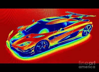 Photograph - Heat Map Hottest Cars Koenigsegg One by Richard W Linford