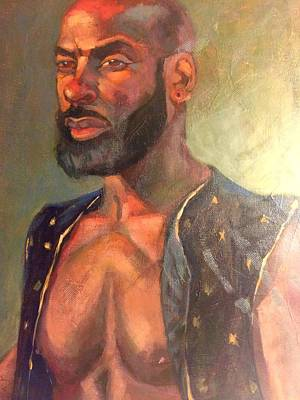 Art Print featuring the painting Heat Merchant by JaeMe Bereal