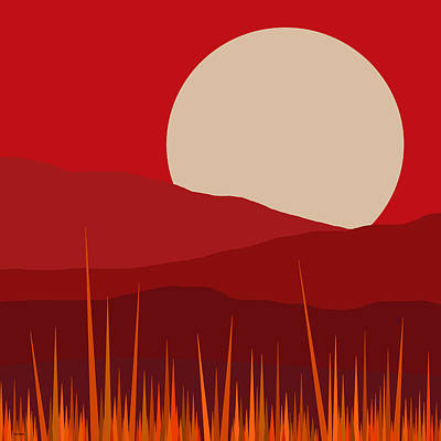 Heat - Red Sky  Art Print