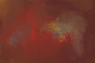 Simple Abstract Art Painting - Heated 2 Autumn Abstract Painting by Jai Johnson