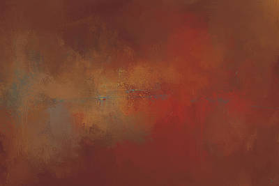 Simple Abstract Art Painting - Heated Autumn Abstract Painting by Jai Johnson