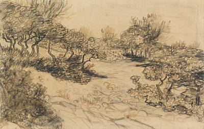 Tuscan Sunset Painting - Heath, 1888 by Vincent Van Gogh