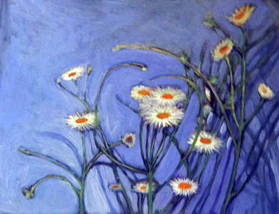 Wild Asters Painting - Heath Asters by Elaine Hines