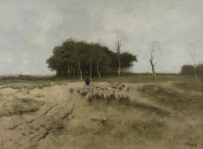 Mauve Painting - Heath At Laren by Anton Mauve