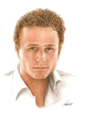 Heath Ledger Wall Art - Drawing - Heath by Bruce Lennon