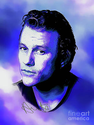 Heath Ledger Digital Art - Heath Ledger Art With Autograph by Kjc