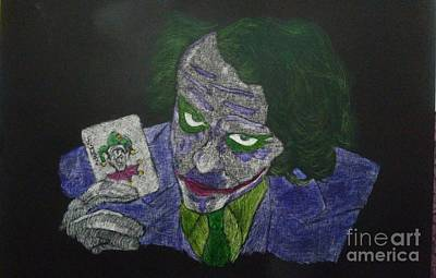 Heath Ledger Mixed Media - Heath Ledger As The Joker by Dana Wildy