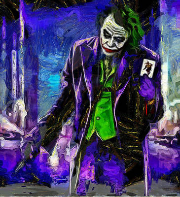 Antique Maps - Heath Ledger - joker by Galeria Trompiz