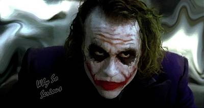 Heath Ledger Photograph - Heath Ledger Joker Why So Serious by David Dehner
