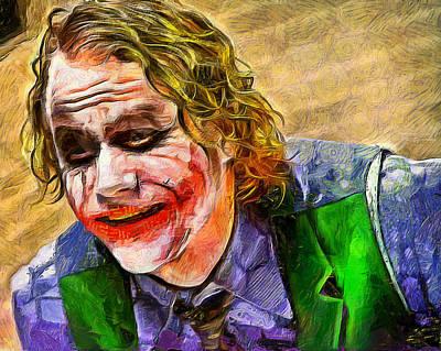 Heath Ledger Digital Art - Heath Legder / The Jocker by Galeria Zullian  Trompiz