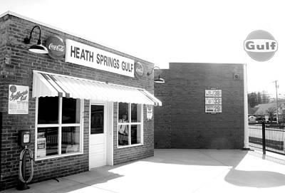 Photograph - Heath Springs Gulf In Bw by Joseph C Hinson Photography