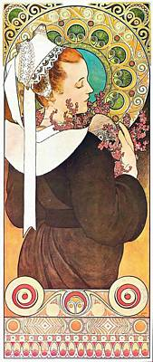 Painting - Heather by Alphonse Mucha