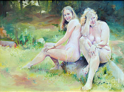 Painting - Heather And Her Aunt -- Working Models  by P Anthony Visco