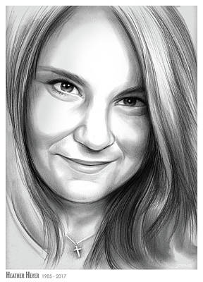 Drawing - Heather Heyer by Greg Joens
