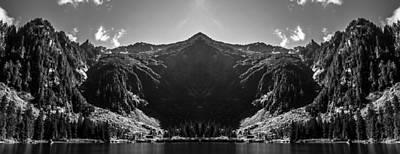 Train Photography - Heather Lake Reflection by Pelo Blanco Photo