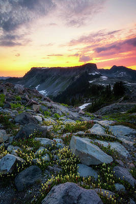 Photograph - Heather Meadows Sunset by Ryan Manuel