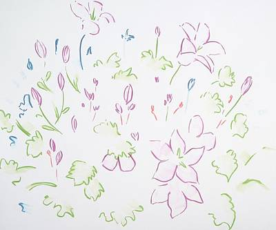 Painting - Heather Plant And Flowers Design by Mike Jory