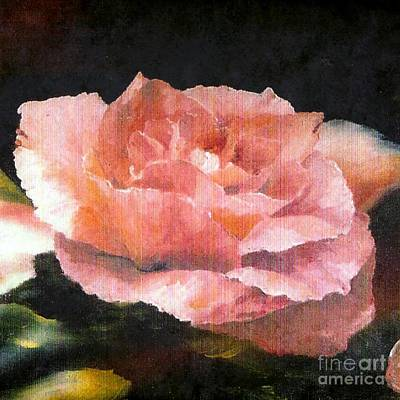 Painting - Heather's Rose by Jodie Marie Anne Richardson Traugott          aka jm-ART
