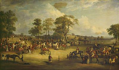 Race Horse Painting - Heaton Park Races by John Ferneley