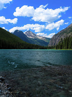 Photograph - Heavan's Peak From Avalanche Lake by David Lyle