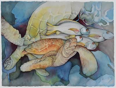 Ocean Turtle Painting - Heaven 6 Ft. Under by Liduine Bekman