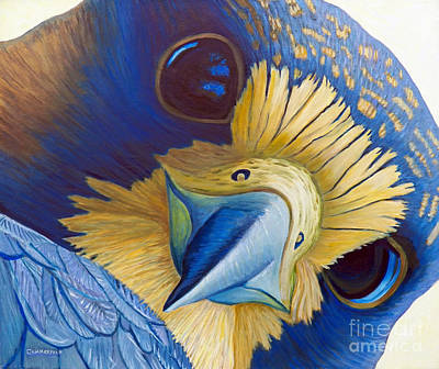 Falcon Painting - Heaven And Earth by Brian  Commerford