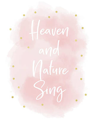 Mixed Media - Heaven And Nature Sing Pink- Art By Linda Woods by Linda Woods