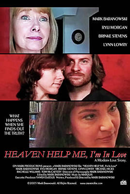 Digital Art - Heaven Help Me, I'm In Love Poster A by Mark Baranowski