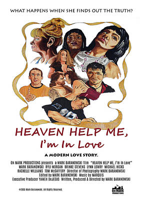 Digital Art - Heaven Help Me, I'm In Love Poster C by Mark Baranowski