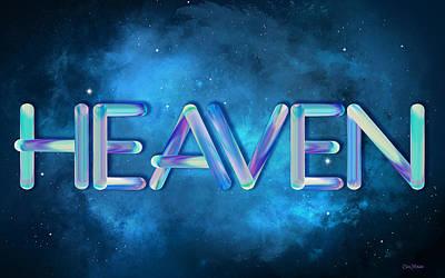 Digital Art - Heaven In Deep Blueuniverse by Ericamaxine Price