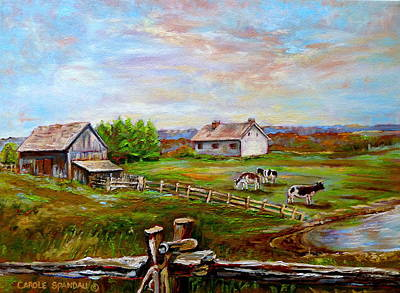 Eastern Townships Painting - Heaven On Earth by Carole Spandau