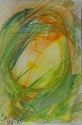 Abstract Movement Mixed Media - Heaven by Silviya Bonkina