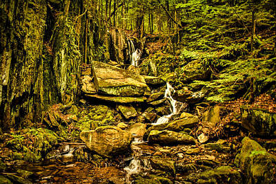 Photograph - Heaven Waterfall Groton Nh by Justin Wheeler