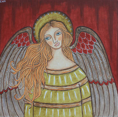 Religious Art Painting - Heavenly Angel by Rain Ririn