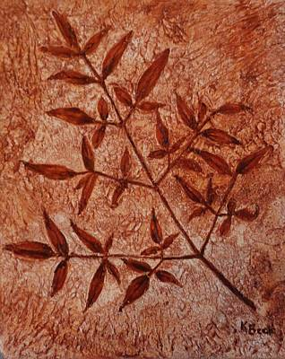 Painting - Heavenly Bamboo Fossil by Katherine Young-Beck
