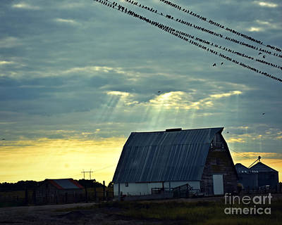 Photograph - Heavenly Barn Light by Kathy M Krause