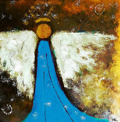 Painting - Heavenly Blue Angel by Tina LeCour