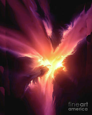 Photograph - Heavenly Body  The Phoenix Nebula by Merton Allen