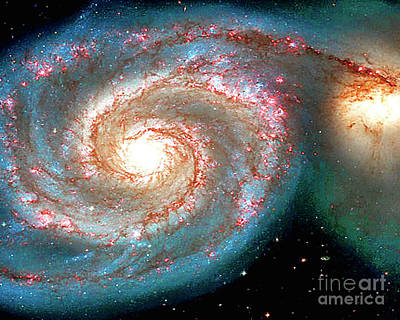 Photograph - Heavenly Body  Whirlpool Galaxy by Merton Allen