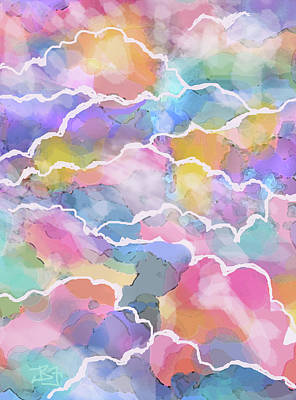 Heavenly Clouds Art Print