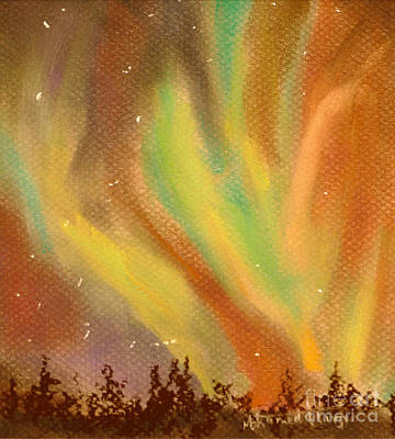 Evening Glow Painting - Heavenly Dance by Mohamed Hirji