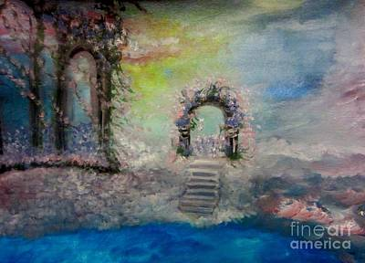Abstract Expressionism Painting - Heavenly Entrance by Stephanie Zelaya
