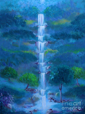 Painting - Heavenly Falls by Stacey Zimmerman