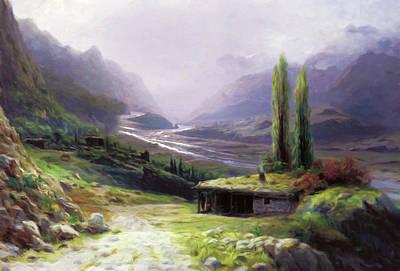 Heavenly Gorge Of Caucasus  Art Print