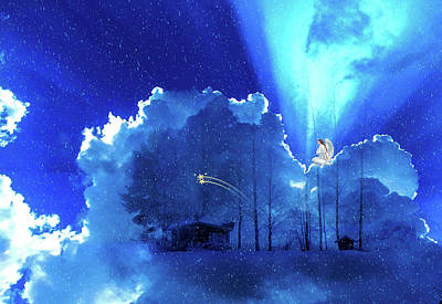 Night Angel Digital Art - Heavenly Grace by Mountain Dreams