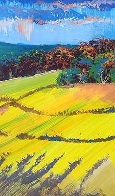 Painting - Heavenly Haldon Hills - Colorful Trees Landscape Painting by Mike Jory