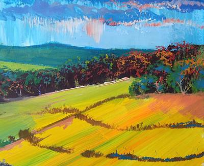 Painting - Heavenly Haldon Hills - Devon English Landscape by Mike Jory